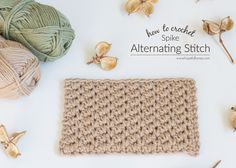 How To: Crochet The Alternating Spike Stitch - Easy Tutorial