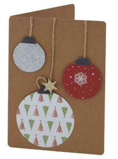 This holiday season hand out these DIY Christmas Cards to your loved ones and tell them how much you care. These Handmade Christmas cards are easy & cheap. Simple Christmas Cards, Christmas Crafts To Make, Homemade Christmas Cards, Christmas Baubles, Kids Christmas, Homemade Cards, Holiday Cards, Christmas Decorations, Christmas Cookies