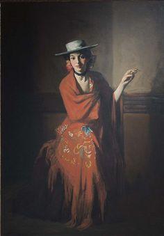 Robert Henri American, 1865-1929 Spanish Dancer with Cigarette, 1904-1905