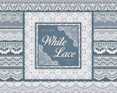 "Digital White #Lace #border clip art - ""White Lace borders"" #clipart with…"