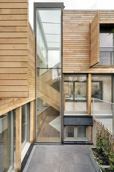 Wood accents, modern architecture