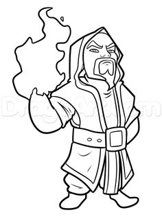 Here is Wizard from the Clash of Clans game that has been getting really popular since it's App release. This character is pretty cool so replicating Wizard Drawings, Clash Of Clans Game, The Clash, Pretty Cool, Fallout Vault, Dawn, Cartoon, Fictional Characters, Google Search