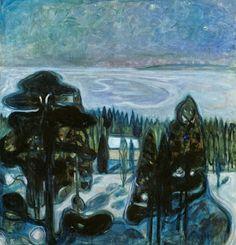 Edvard Munch (1863-1944, Norway) | White Night, 1901