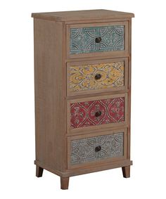 DIY inspiration-Driftwood Multicolor Four-Drawer Chest