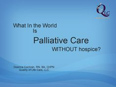 Palliative Care Without Hospice?