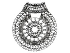 Artisan Gem Collection Of India, Sterling Silver Medallion Pendant