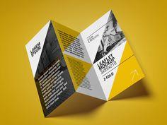 Free Trifold Leaflet Mockup by MockupsDesign