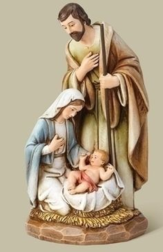 "Roman Set of 2 Josephs Studio Religious Holy Family Nativity with Animal Christmas Table Top Figurines 7.5/"""