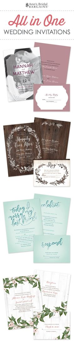 197 Best Affordable Wedding Invitations Images In 2020