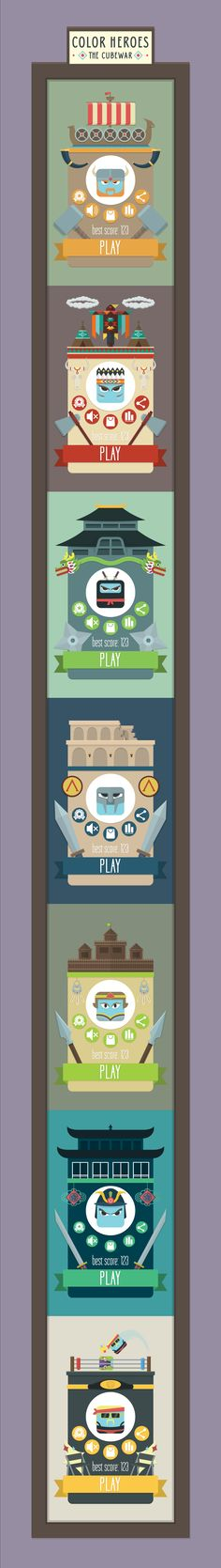 COLOR HEROES: THE CUBE WAR - characters showcase on Behance