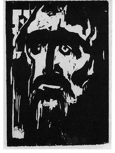 Emil Nolde - The Prophet. Original woodcut, 1916