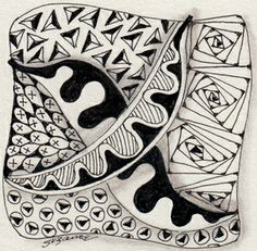 """Zentangles"" by Suzanne McNeill...yoga for the mind"