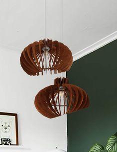 CURVES _ Wood Pendant Light - Modern Chandelier Lighting - Hanging Dining Lamp - Ceiling Light Fixture - Geometric Lamp - Minimal by MADEinLOVEDESIGN on Etsy https://www.etsy.com/listing/504889025/curves-wood-pendant-light-modern