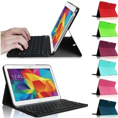 Bluetooth+Keyboard+Leather+Cover+Case+for+Samsung+Galaxy+Tab+4+10.1+Inch+Tablet+#Generic