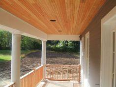 Farmer's Porch--wood finish ceiling