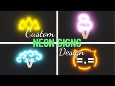 My Home Design, Sign Design, Neon Bedroom, Tiny House Loft, Roblox Roblox, Cute Room Ideas, Roblox Pictures, Custom Neon Signs, Animal Room
