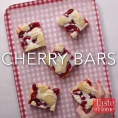 Cherry Bars Recipe