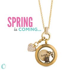 New gold pieces to add to your existing gold locket such as the heart dangle that is attached to another new piece that allows you to upgrade to a more sophisticated look.  #origamiowl #jewelry #locketsncharms