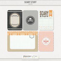 Quality DigiScrap Freebies: Scary Stuff journal cards freebie from Deena Rutter