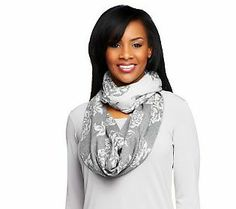 We love the rose pattern on this @Isaac Mizrahi eternity scarf!