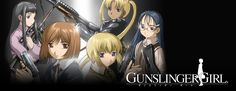 """Gunslinger Girl:  Plot Summary: """"Henrietta"""" was an innocent little girl when her entire family was massacred and she was left for dead. She was rescued by a privately-owned social welfare organization and given cybernetic components over her battered body. Brainwashed by the organization, she and four other girls now work as cold-blooded assassins, doing the dirty work for the Italian government."""