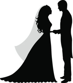 Image for Wedding. Silhouette Couple, Wedding Silhouette, Silhouette Art, Wedding Anniversary Cards, Wedding Cards, Cute Wallpapers, Wallpaper Backgrounds, Wedding Ideias, Background Images Hd