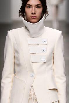 Asymmetrical jacket; chic innovative fashion details // Kaal E Suktae Fall 2015