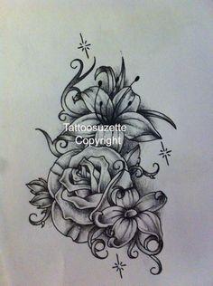 Flower tattoo design by tattoosuzette.deviantart.com on @deviantART