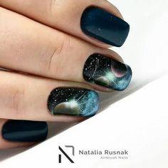 30 Nail Designs for Short Nails Manicure Nail Designs, Nail Manicure, Diy Nails, Short Nail Designs, Cool Nail Designs, Cute Nail Art, Cute Nails, Planet Nails, Nail Polish Crafts