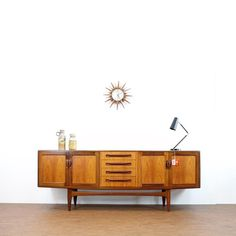 Classic Mid century 'fresco' credenza by G Plan. We have 2 coming on our next shipment from the UK Mid Century Credenza, Midcentury Modern, Fresco, Teak, Buffet, Heaven, Cabinet, How To Plan, Storage