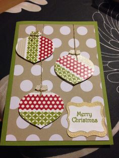Stampin up Christmas washi tape baubles.