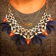 Dress up your favorite tee & jeans with a statement necklace. If you're feeling bold, add some layers to it! #stelladotstyle via @themeganmaes Steal the show with the Melia Necklace at Stella & Dot