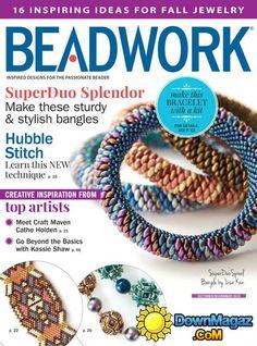 hubble stitch in october beadwork magazine bead Beading Techniques, Beading Tutorials, Beading Patterns, Fall Jewelry, Beaded Jewelry, Beaded Bracelets, Jewellery, Bead Crafts, Tutorials