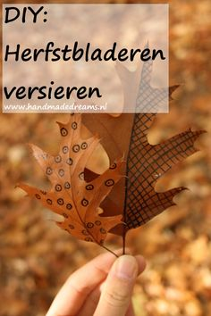 DIY: Herfstbladeren versieren Diys, Blog, Bricolage, Do It Yourself, Blogging, Homemade, Diy