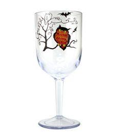 Owl wine glass