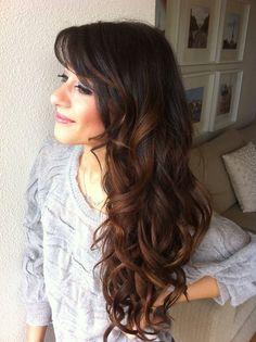 curls w/ bangs