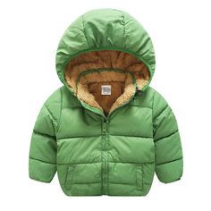 Baby Boy Hooded Jackets for Autumn Winter Solid Cloth Newbons Toddler Girl Warm Clothes Outfit Sport Coats Children's Clothing #Affiliate