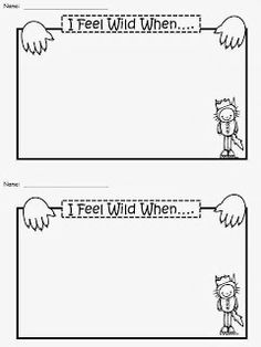 Free: Where The Wild Things Are Writing Paper. I Feel Wild When.....Freebie For A Teacher From A Teacher. Enjoy! fairytalesandfictionby2.blogspot.com