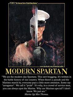 Spartans have Marine blood, or vise versa? Marine Boyfriend, Military Girlfriend, Marine Mom, Military Love, Military Spouse, Marine Corps Quotes, Usmc Quotes, Us Marine Corps, Quotes Quotes
