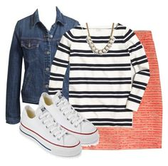 """""""JCF3"""" by my4boys ❤ liked on Polyvore featuring J.Crew, Converse, women's clothing, women, female, woman, misses and juniors"""