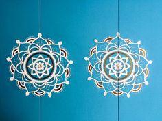 Matching mandala love on dining table