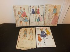 Inventory 53 Lot of 5 Vintage Patterns Girls Size 12