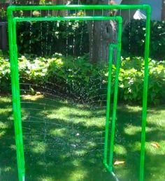 Kids DIY PVC Sprinkler Apparatus - Another Husband Original :)  Great job Daddyo!!