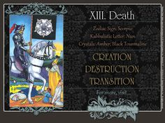 Get in-depth meanings for the Death card! Upright & reversed Tarot Card Meanings included for a more detailed Tarot Reading.