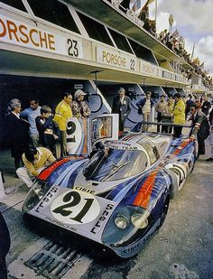 Martini Porsche 917LH driven by Gérard Larrousse (F) and Vic Elford (GB) at the 1971 Le Mans 24.