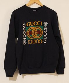 Hey, I found this really awesome Etsy listing at https://www.etsy.com/listing/193630646/gucci-80s-vintage-sweater-crewneck