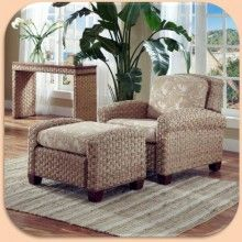 Home Styles Cabana Banana II Chair And Ottoman Honey Finish   Furniture    Home And Patio