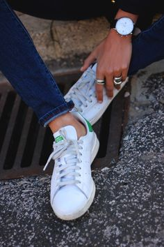 adidas stan smith mise a collo alto vestito casual / minimaliste.