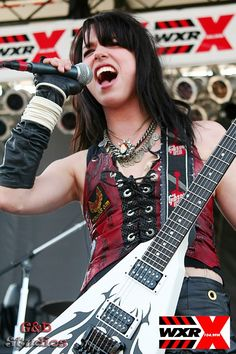 Lzzy Hale.  Total girl crush.