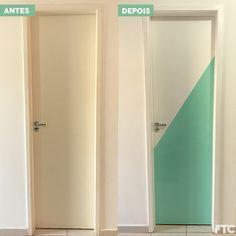 Portas geométricas - DIY / faça você mesmo - pintura tendência na decoração